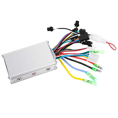 Wear- 24V-48V Panel de pantalla LCD duradera mano de obra exquisita Kit de controlador sin escobillas de scooter de bicicleta eléctrica para montar en senderos(36V/48V 350W, 36V/48V 250W/350W, Blue)