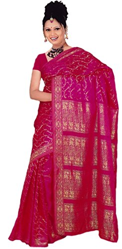 Trendofindia Trendofindia Indisches Sari Damenkostüm Bollywood Sari Kleid Pink CA106