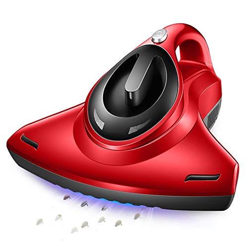 ZBJJ Aspiradora de Mano con Cable con luz UV | Un Limpiador antialérgico Mata el 99.9 por ciento de Las bacterias y los ácaros del Polvo | Ideal para Tapicería, Rojo