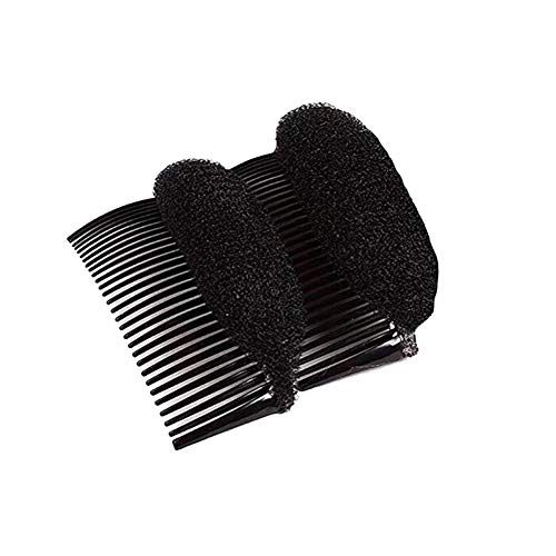 erioctry Pack of 2 Women Lady Girl Hair Styling Clip Charming Bump IT UP Volume Inserts Do Beehive Hair Styler Tool Stick Bun Maker Hair Comb Hair Accessories Hot (Black)
