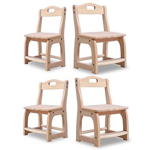 Sedie Sgabelli Imposta, Posto A Sedere Asilo Nido, di Legno Ragazzi Ragazze Unisex attività Stanza dei Giochi Daycare Prescolastico ZX Casa Poltrone (Color : 4 Pine Chair)