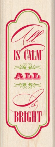 Inkadinkado Wood Stamp, All is Calm