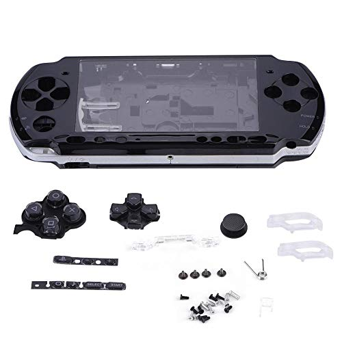 Diyeeni Game Shell PC Materiaal Vervanging Volledige Behuizing Console Game Shell Case Cover Reparatie Onderdelen Exclusief voor PSP 3000 anti - shock, anti - druk, anti - scratch, Zwart