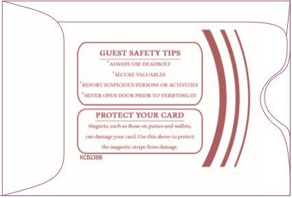 """1000 Cashier Depot Keycard Envelope/Sleeve"""" Welcome Guests"""" 2-3/8"""" x 3-1/2"""" 1000 Count"""