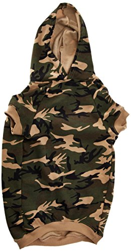 Casual Canine Camo Hoodie for Dogs, 20' XL, Green