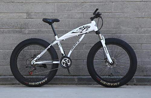 WYN Rueda de radios de Velocidad montaña/Anillo Hueco de Nieve Bicicleta de Freno de Doble Disco, Blanco, 24 * 15 (150-165 cm)