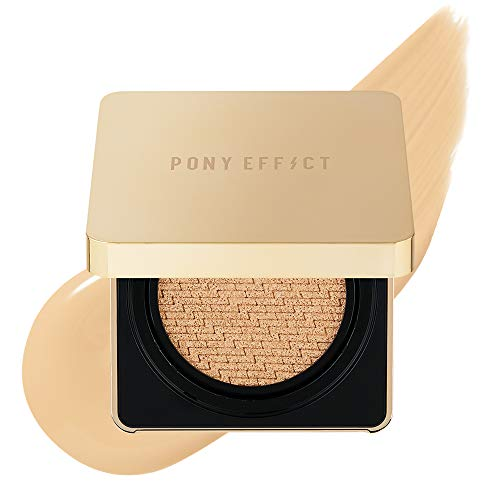 PONY EFFECT Coverstay Cushion Foundation Ex | 003 Nude Beige | Long-lasting and Full-Coverage Cushion Foundation With Refill | K-beauty