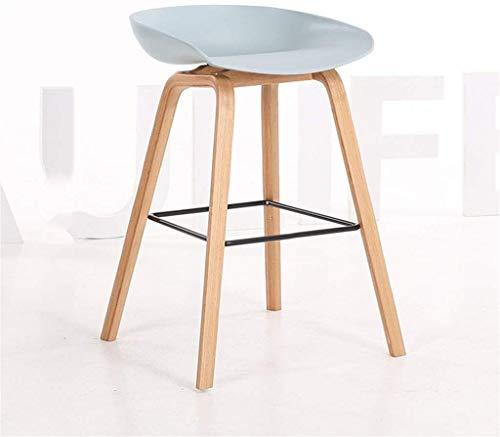 YLCJ barkruk, hoge eettafel, stoel, stoel, bureaustoel, houten poten met pedaal (kleur: B, grootte: 64 cm) 74CM E