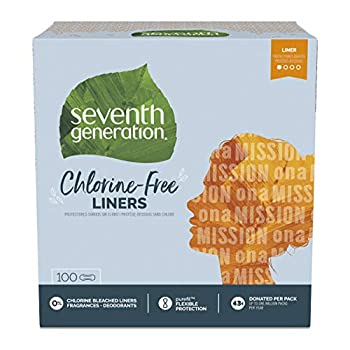Seventh Generation Pantiliners Chlorine Free 100 Count  Packaging May Vary
