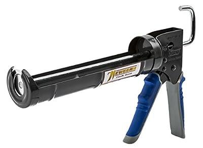 Newborn Pro Super Ratchet Rod Caulk Gun with Gator Trigger Comfort Grip, 1/10 Gallon Cartridge, 6:1 Thrust Ratio, Standard, Model:910-GTR from Newborn