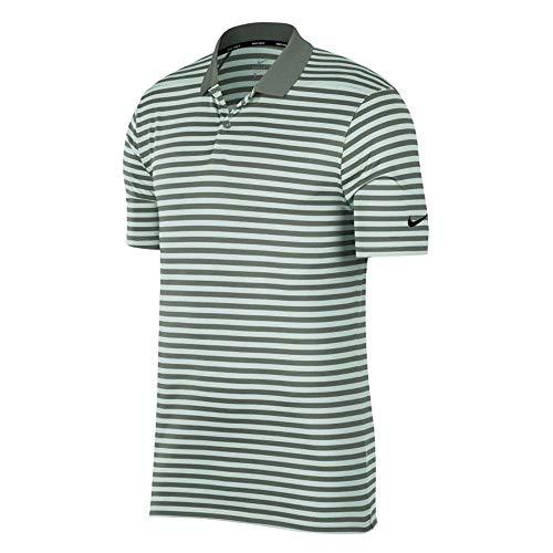 Nike Dri Fit Victory Stripe Golf Polo 2019 Vintage Lichen/Barely Gray/Black X-Large