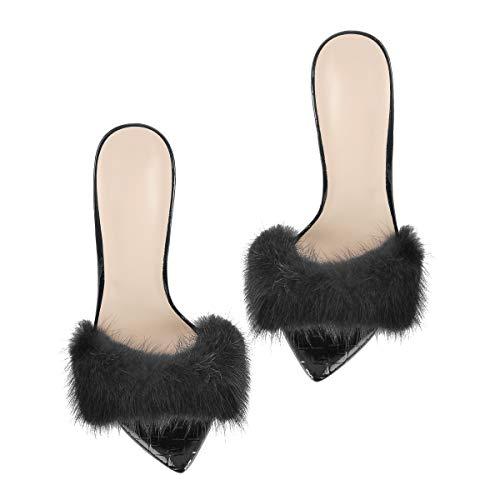 Genuine Fur Mules High Heels