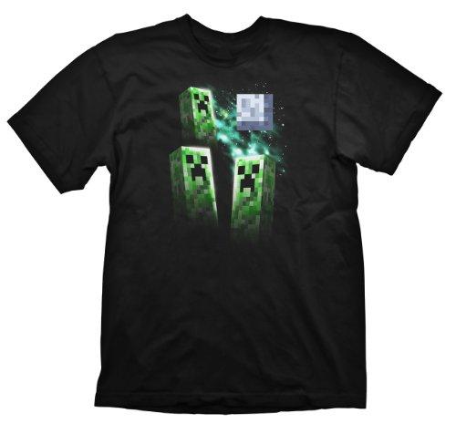 Minecraft T-Shirt Three Creeper Moon, Größe XL [Importación alemana]