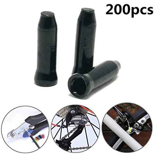 200 Piezas Aleación De Aluminio Tapas De Cable De Freno De Bicicleta...