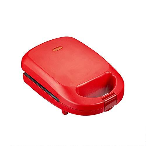 Mini Elektrisch Multifunctioneel 2 In 1 Wafelijzer Sandwich Maker Non-stick Keuken Oven Met Uitneembare Bakplaat Gemakkelijk schoon te maken Non-stick Zijden Geen Vuilnis Voor Ontbijt Lunch of Snack,Red