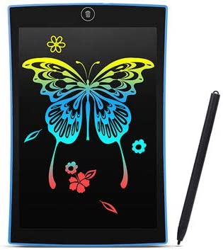 9.5 inch high Brightness LCD LCD Rainbow Color Font Tablet Rechargeable Screen Lockable Color Painting Board Graffiti Board Blue
