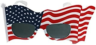 0fa9491ef9b American Flag Sunglasses USA Patriotic Design Plastic Glasses Shades Sunglasses  Eyewear for 4th of July Party