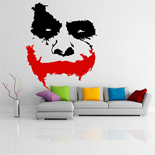 Batman Wandtattoo Scary Joker Face Film Batman: The Dark Knight Aufkleber, Wandbild Raumdekoration