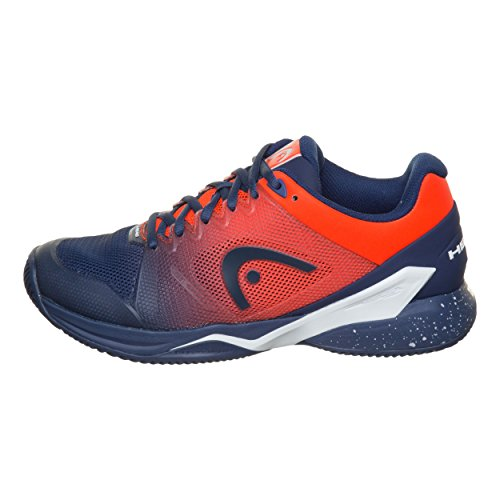 SCARPA UOMO HEAD TENNIS PERFORMANCE FOOTWEAR 273018 075 BLUE FAME ORANGE Size : 41
