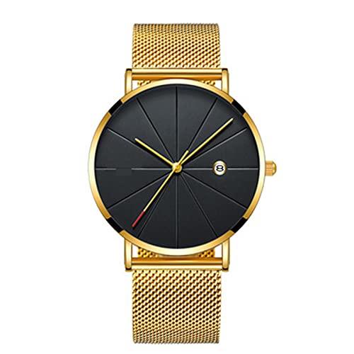 Reloj De Las Mujeres De Cuarzo, Reloj De Cuarzo, Reloj De Las Mujeres A Prueba De Agua De La Vida Diaria Simple, Grosor 6.5 Mm - Diamétrico De Dial 40.5 Mm - Correa De Acero Inoxidable(Color:I)