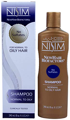Normal to Oily Nisim Hair Loss Shampoo 8oz- No Sulfates, Parabens, DEA by Nisim