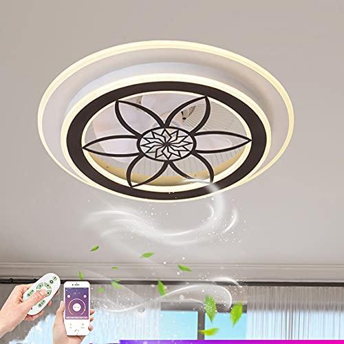 ZBYL Ventilador de Techo con Mando a Distancia LED Regulable Ventilador del Luz Ultra Silencioso Invisible Fan Lámpara de Techo para Infantil Dormitorio Salón Iluminación 3 Velocidades De Viento