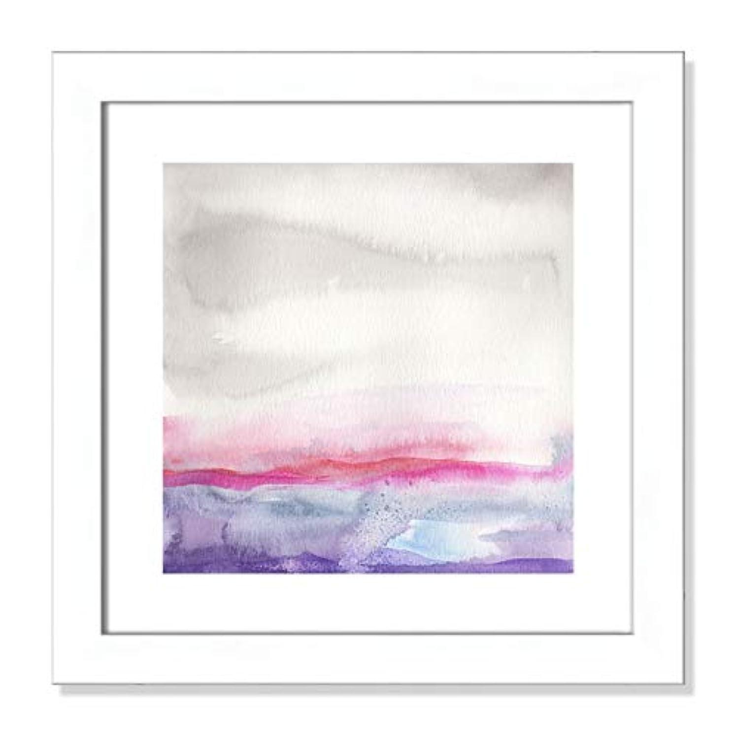 Casa Fine Arts Pink Landscape I Pastel Minimalist Abstract Wall Art Archival Watercolor Print, 16
