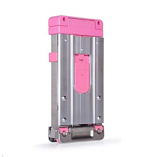 Pandady Kleine Faltbare Tragbare Einkaufstrolley Einkaufsroller, Kamerahalterung Tragbarer Edelstahlhebel Faltbarer Utility Wagon, Eltern Und Senioren Für Den Gepäcktransport,Pink