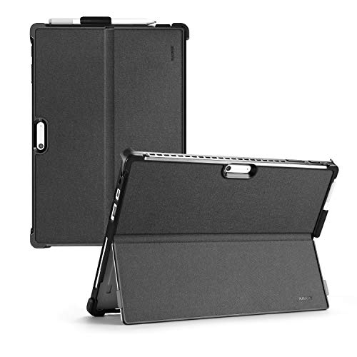 Surface Pro Case, Microsoft Surface Pro 7/ Pro 6/ Pro 5/ Pro 4/ Pro 2018/ Pro 2017 Case, All-in-One Shockproof with Sturdy Folio Bracket Protective Cover, with Bracket Pencil Holder