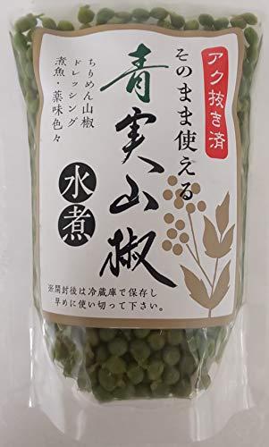 プロ使用 青実山椒 ( 水煮 ) 135g(固形80g)開封後そのままご使用頂けます。