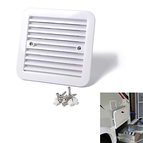 Rabusion Ventilación de 12 V para frigorífico con ventilador para RV, remolque, caravana, salida de aire lateral (A0672-02 fuerte viento)