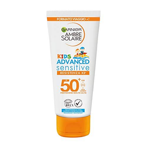 Garnier Ambre Solaire per Bambini Advanced Sensitive Kids Protezione Solare, Latte Protettivo...