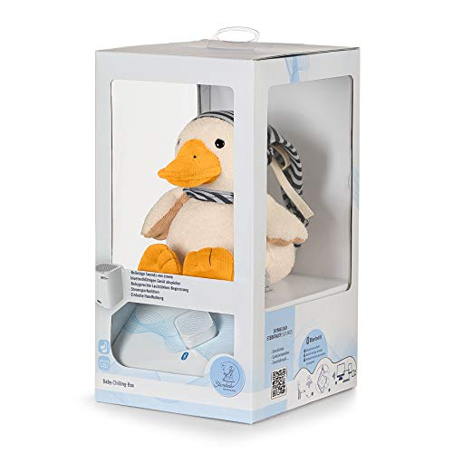 Sterntaler Chilling Box Edda (DE 34407560), Digitale Spieluhr, Inkl. Bluetooth-Lautsprecher und USB-Kabel, Alter: Babys ab der Geburt, 20x16x10 cm, Weiß