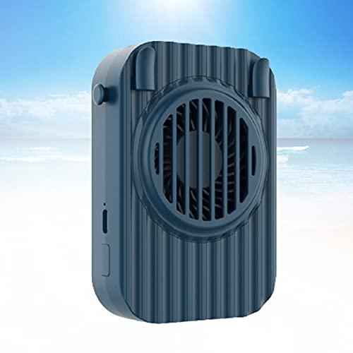 YONGCHY Ventilador Recargable USB, Ventilador a Batería con Función De Banco De Energía De 1200 Mah Mini Ventilador Personal Eléctrico para Oficina, Hogar, Cochecito para Acampar,Azul