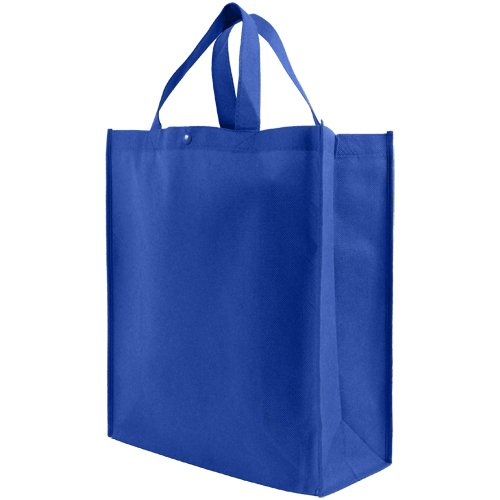 Reusable Grocery Tote Bag Large 10 Pack - Royal Blue