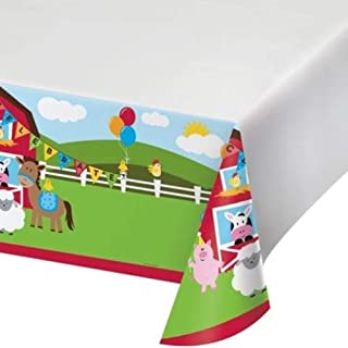 Creative Converting Plastic Tablecover, Multicolor