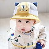 WANG ハット・帽子 0-3歳の子供幼児赤ちゃんの女の子アンチ唾吐きアンチダスト保護ハットフェイスシールドフィッシャーマンサンハットの保護帽子 漁師帽 (Color : G, Size : 46-50cm(1-3 years old))