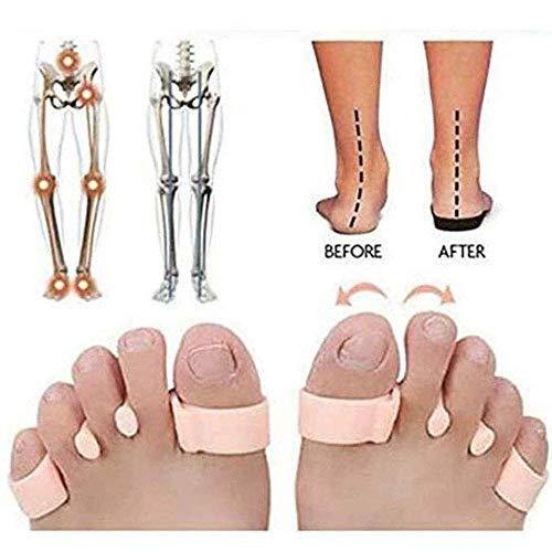 YXZQ Toe Corrector, Ortopédico Toe Support Crest Pad Almohadilla del Dedo del pie Separador Cojines Alisadores elásticos Espaciadores Alivio del Dolor y la presión, Super Sof, 8 Pares