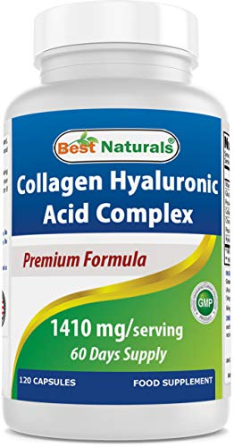 Best Naturals Collagen Hyaluronic Acid Complex, 1410 mg/Serving, 120 Capsules