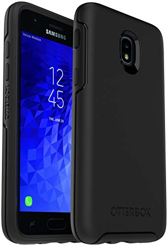 OtterBox Symmetry Series Case for Samsung Galaxy J3/J3 (2018)/J3 V 3rd gen/J3 3rd gen/Amp Prime 3/J3 Star - Non-Retail Packaging - Black
