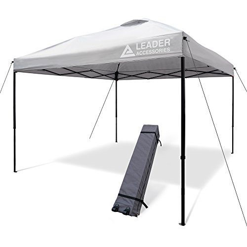 Leader Accessories Pop Up Canopy Tent 10'x10' Canopy Instant Canopy Shelter Straight Leg Including...