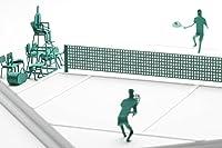 テラダモケイ 1/100建築模型用添景セット No.58 テニス編