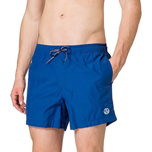 NORTH SAILS Volley W/Logo 36 cm Costume a Pantaloncino, Ocean Blue, Small Uomo