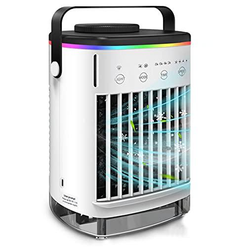 Condizionatore D'aria Portatile, Umidificatore Per Raffreddamento Ad Acqua Con Dispositivo Di Raffreddamento Dello Spazio Personale USB Con 3 Modalità 4 Velocità Del Vento,Nero