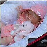 Jingmei MuñEca De Vinilo De SimulacióN De Silicona Suave, 18 Pulgadas 46Cm MuñEca Renacimiento, Silicona Suave Reborn Silicona Cuerpo Completo, Gift Set For Children