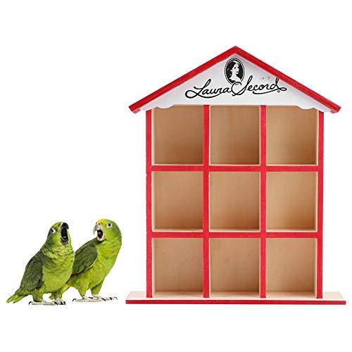 Fishlor Casa de pájaros de Madera, Mini nidos de pájaros Caja de...