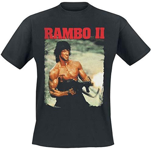 Rambo 2 - John In Action T-Shirt schwarz L