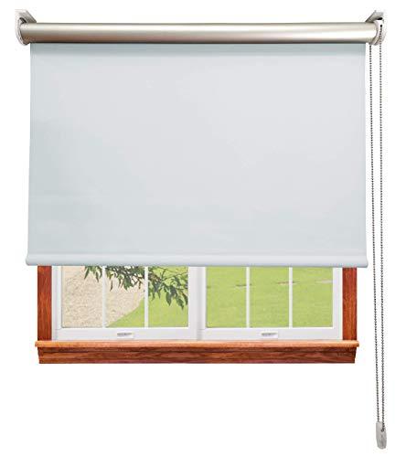 Estor Opaco TERMORREFLECTOR Premium A Medida, Desde 40 a 300 cm de Ancho. Conserva intimidad y Temperatura. Perla. Estores Enrollables para Ventanas y Puertas.