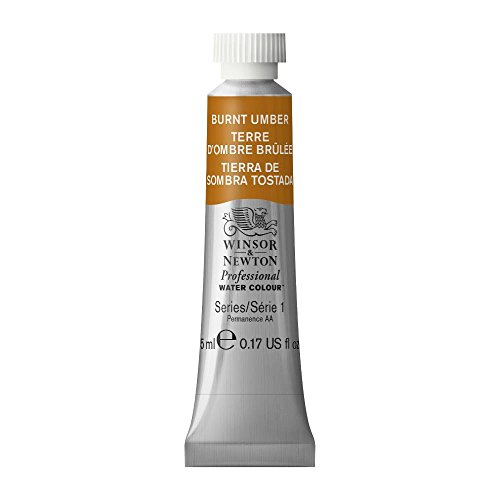 Winsor & Newton Professional Water Colour Paint, 5ml tube, Burnt Umber