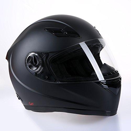 Motorradhelm Integralhelm CMX Blacky XL schwarz matt mit Visier klar + getönt